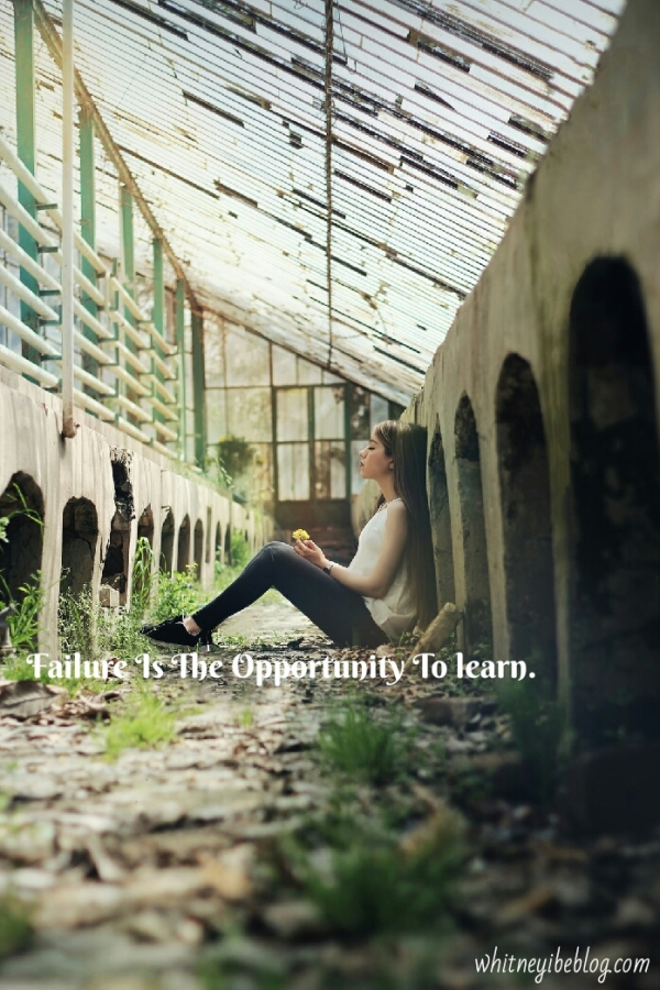 Failure Is An Opportunity To Learn. Learn From It.