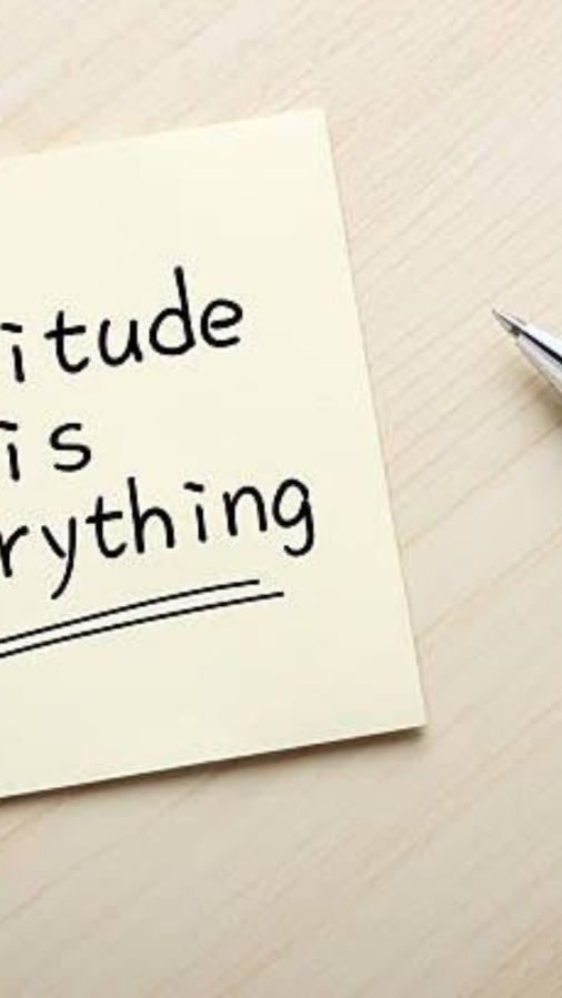 Your Attitude Is Everything; ControlIt!